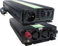 Měnič 12V/230V+UPS 1000W,modif.sinusovka,CARSPA, vadný na ND.