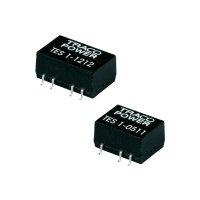 DC/DC měnič TracoPower TES 1-1221, vstup 12 V/DC, výstup ±5 V/DC, ±100 mA, 1 W