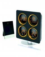 Meteostanice WS 6830A s LED displejem v jantarové barvě + adaptér