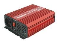 Měnič napětí 12V/230V 300W + USB sinusovka