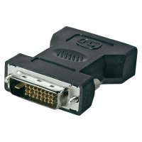 DVI adaptér Goobay 68523, [1x DVI zástrčka 24+1pólová - 1x DVI zásuvka 24+5pólová], černá