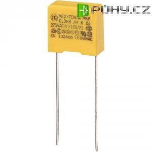 Foliový kondenzátor MKP, 0,068 µF, X2 275 V/AC, 10 %, 13 x 6 x 12 mm