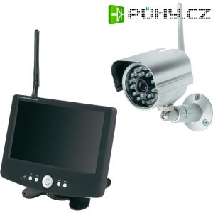 "Bezdrátová kamera + monitor s DVR Renkforce, 2, 4 GHz, IR LED, 7"" LCD"
