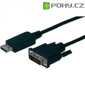 Kabel DVI vidlice ⇔ DisplayPort vidlice, 3 m, černý