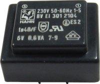 Trafo DPS 6V/0,6VA HAHN Ta40/F, 27x32,5x15mm