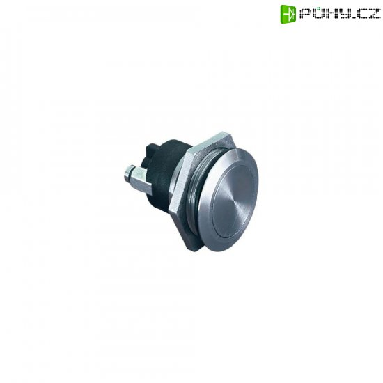 Tlačítko antivandal bez aretace Bulgin MP0037, 50 V, 1 A, nerezová ocel, 1x vyp/(zap) - Kliknutím na obrázek zavřete