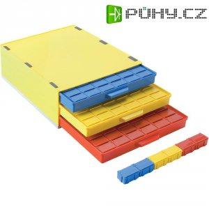 SMD box se 3 přihrádkami Licefa A1-4 DISS 72, vodivý, žlutá