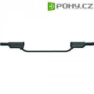 Měřicí silikonový kabel banánek 4 mm ⇔ banánek 4 mm MultiContact XVS-4075, 0,5 m, černá