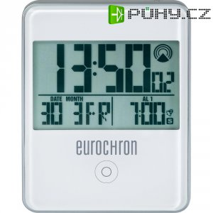 DCF budík Eurochron EFW 31 i, RC 120X, 70 x 88 x 18 mm, bílá