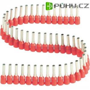 Dutinka v pásce s plastovým límcem Vogt Verbindungstechnik 470308.00050, 1 mm², 8 mm, červená