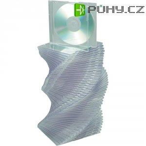 Krabičky Slim pro CD, 50 ks, transparentní