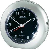 Analogový DCF budík Eurochron EFW 5002, 120 x 110 x 54 mm, stříbrná