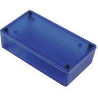 Univerzální pouzdro Hammond Electronics 1591XXGTBU 1591XXGTBU, 121 x 94 x 34 , ABS, modrá (transparentní), 1 ks