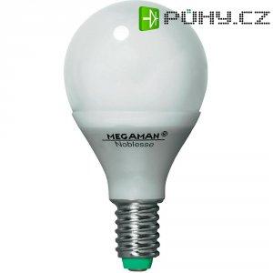 Úsporná žárovka kulatá Megaman Noblesse Ping Pong E14, 7 W, teplá bílá