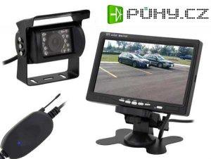 """Bezdrátová couvací kamera se 7"""" LCD monitorem a nočním viděním"""