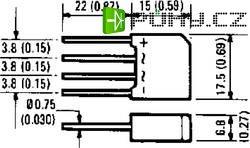 Můstkový usměrňovač IR 2KBP04, U(RRM) 400 V, U(FM) 1 V, I(F) 2 A, D-44
