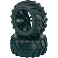 Monstertruck kolo Reely Retro, 5 dvoj. paprsků, 1:10, 12 mm 6-hran, černá, 2 ks