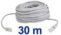 UTP kabel Patch RJ45 30m šedý cat5e