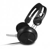 Sluchátka s mikrofonem CANYON CNE-CHSU1 černá