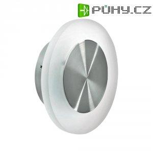 Nástěnné LED svítidlo, 1,5 W, Ø 12,6 cm, kulaté, nerez, bílá