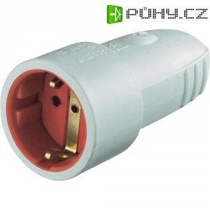 Zásuvka na kabel, 0177, IP20, gumová, schuko, světle modrá
