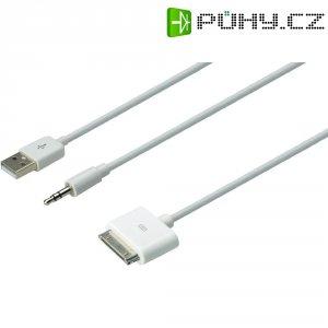 Napájecí/datový/audio kabel pro Apple, 30 pol. konektor, bílý, Digitus