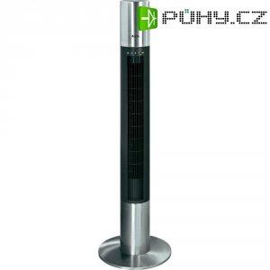 Tichý sloupový ventilátor AEG T-VL 5537 s dálk.ovladačem, 40 W, (Ø x v) 32 cm x 120 cm, černá, nerezová ocel