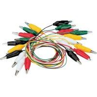 Sada měřicích kabelů krokosvorka ⇔ krokosvorka Voltcraft KS-540/0.5, 0,54 m, 10 ks