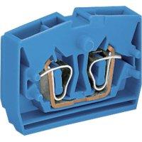 Svorka středová 2vodičová Wago 264-324, s přip. přírubou, pružinová, 6 mm, modrá