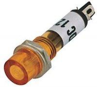 Kontrolka LED 12V , oranžová do otvoru 7mm