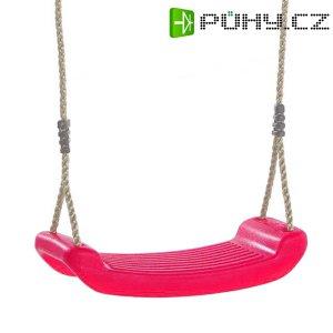 Houpačka dětská plastová, růžový sedák, lano