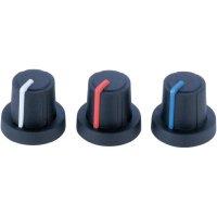 Otočný knoflík (Ø 19 mm) Soft-Touch PB Fastener 3/03/TPN 130006, 6 mm, černá/modrá
