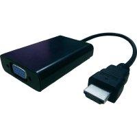 AV kabel s adaptérem HDMI/VGA, 0,14 m, černý