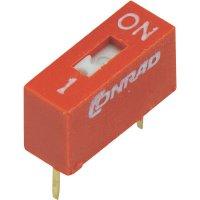 DIP spínač DSR-01, 9,9 x 5,7 mm, 1pól.