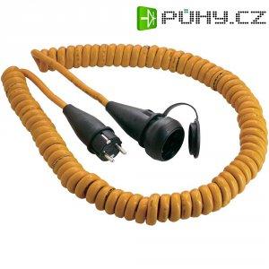 Prodlužovací spirálový kabel AS Schwabe, 5 m, oranžová