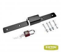 Závora bezpečnostní se zámkem, 3klíče, rozměr 405x58x40mm, EXTOL CRAFT 93000