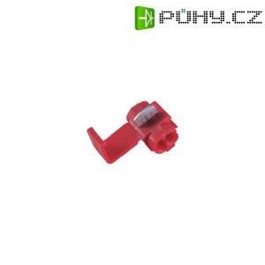 Kabelová rychlospojka, 0,5 - 0,75 mm², 2pólová, červená, 5 kusů