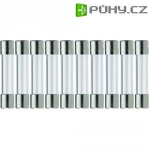 Jemná pojistka ESKA středně pomalá 525218, 250 V, 1,25 A, skleněná trubice, 5 mm x 25 mm, 10 ks