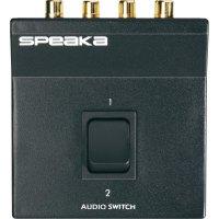 Přepínací audiopult Speaka, 2 vstupy, 160 x 45 mm