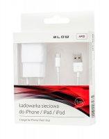 Kabel pro iPhone 5/6/iPad Air/iPad Mini/iPod, bílý 1m + nabíječka do sítě USB 2.1A