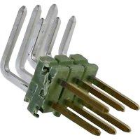 Kolíková lišta MOD II TE Connectivity 825457-7, úhlová, 2,54 mm, zelená