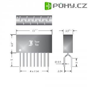 Usměrňovací diodové pole Diotec DAN403, U(RRM) 80 V, 4 x 50 mA