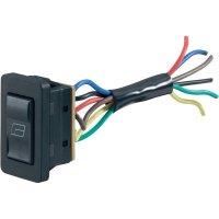 Kolébkový přepínač do auta pro ovládání oken SCI 28628C17, 12 V/DC, 20 A, bez aretace/0/bez aretace, 1 ks
