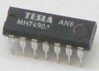 7490A 4bitový dekadický čítač, DIL14 /MH7490A/