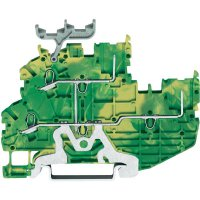 Řadová svorka 2vodičová Wago 2020-2207, se štítkem, pružinová, 3,5 mm, zelenožlutá