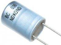 470u/10V NDKOND 8x11x5mm, elektrolyt.kondenzátor radiální