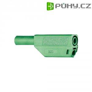 Lamelový konektor Ø 4 mm MultiContact 22.2657-25, zástrčka rovná, zelená