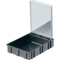 Box pro SMD součástky Licefa, N466101LS, 68 x 57 x 15 mm, černá
