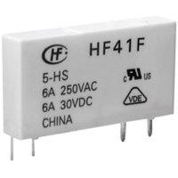 Relé do DPS Hongfa HF41F/005-ZST, 5 V/DC, 6 A, 1 přepínací kontakt, 1 ks