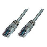 Patch kabel CAT 5e U/UTP RJ 45, vidlice ⇔ vidlice, 0,25 m, šedý